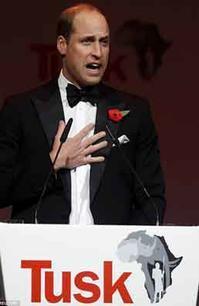 『ウィリアム王子 世界にあまりにも多くの人々がいると』/ 動画・The Telegraph  Daily Mail - 「つかさ組!」