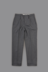 STILL BY HAND  Stretch Flano 1-Tuck Tapered Pants - un.regard.moderne