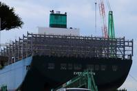 EVERGREEN 20,000TEU 1番船 - 造船・船舶の画像2