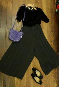 coodinate pleated pants - carboots