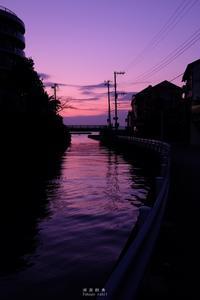 第792回  誰そ彼時スナップ - 湘南群青 -The sunset  blue -