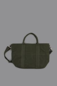 COMME des GARCONS HOMME  Cotton Paraffin Canvas Tote Bag (Khaki) - un.regard.moderne