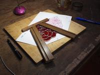 小ランプ「薔薇」 組みはじめる - ステンドグラスルーチェの日常