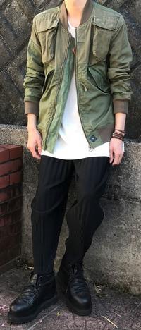 カーキ×ブラック - メンズファッション塾-ネクステージ-