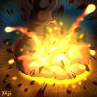 メディバンペイントでペイント『爆発』エフェクト - シュールな絵画の抽象画の油絵奮闘記