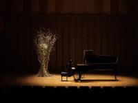 札幌コンサートホールKitara小ホールでの、ピアノリサイタルのステージ装花。2017/11/10。 - 札幌 花屋 meLL flowers