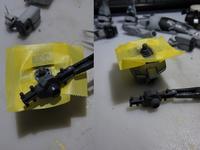 HGUC 1/144 RGM-79N ジムカスタム 製作中 (8) - DNF