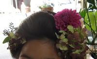 七五三生花の髪飾り - ブランシュのはなたち