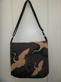 鶴柄のバッグ - mackeyの手作り小物