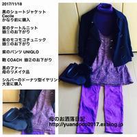 紫が好きな母娘の着こなし - 母のお洒落日記