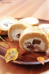 和三盆と栗のロールケーキ - Heaven's Kitchen