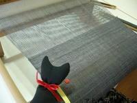袋織りマフラー織り上がり - アトリエひなぎく 手織り日記