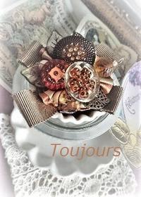 輸入ボタンのブローチ - Bijoux  du  Bonheur ~ビジュー ドゥ ボヌール~