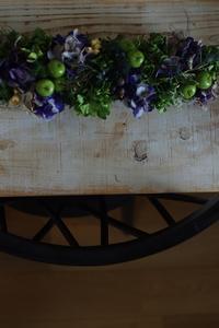 長く飾れる!青リンゴのテーブルアレンジ - プリザーブドフラワーレイラ ショップブログ