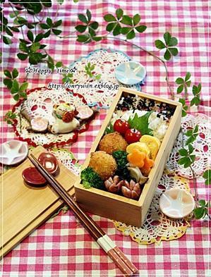 はんぺんカニカマフライ弁当とダブル食パンと~♪ - ☆Happy time☆