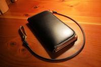 ロングウォレット ショートタイプ コードバン×ヌメ革 コンビカラー - stovl leather log