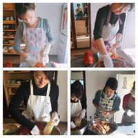 11月のクラスの様子、キムジャンキムチ作り編 - 東京、横浜 韓国宮中料理、韓国料理教室シクタク