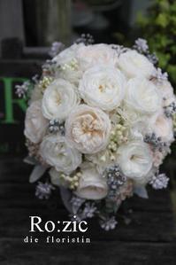 2017.11.16 白いティアドロップブーケと花嫁さま/プリザーブドフラワー - Ro:zic die  floristin