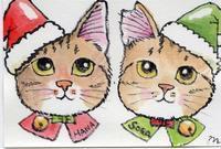 クリスマスを楽しむぞ♪ - まゆみのお絵描き絵手紙