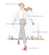 女性のスタート--オリジナルイラスト - 女性誌を中心に活動するイラストレーター清水利江子の仕事ブログ