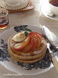 紅玉りんごのパンケーキ♪ - Cache-Cache+