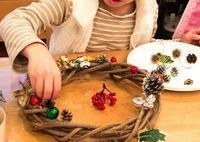 可愛いリースできあがり - 大阪府池田市 幼児造形教室「はるいろクレヨンのブログ」