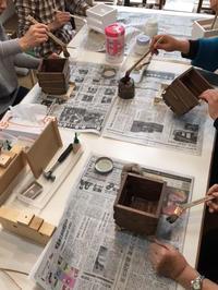DIYワークショップ『ハンギングプランターボックスを作ろう』土曜日の部が終了しました。 - CROSSE 便り