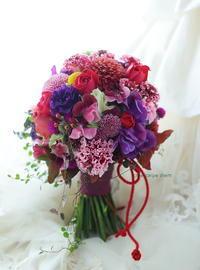 振袖のブーケ  クラシカ表参道様へ - 一会 ウエディングの花