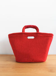 R&D.M.Co- RED TWEED MARCHE BAG SMALL - 『Bumpkins putting on airs』
