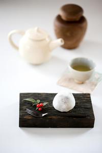 cottaさん 冬の和菓子 豆大福 - のんびりのびのび