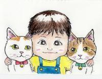 きなこちゃんお誕生日おめでとう - まゆみのお絵描き絵手紙