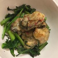 牡蛎と小松菜のナンプラー炒め、キリン一番搾り♪ - パルシステムのある生活♪