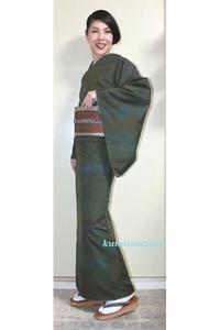 今日の着物コーディネート♪(2017.11.21)~能州紬&紋博多袋帯編~ - 着物、ときどきチロ美&チャ美。。。お誂えもリサイクルも♪