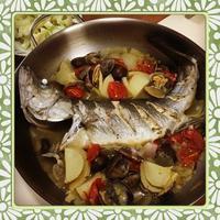 おもてなし料理にオススメ!スズキのアクアパッツァ(レシピ付) - kajuの■今日のお料理・簡単レシピ■