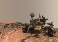 火星探査車キュリオシティ自画像とシャープ山 - 秘密の世界        [The Secret World]