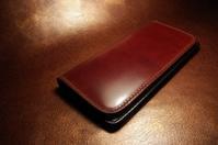 長財布 コードバン バーガンディ 仕様変更オーダー - stovl leather log