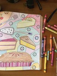 大人のぬり絵 - ブリアンヌのお散歩日記