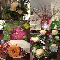 11月のお花教室 - リタイア夫と空の旅、海の旅、二人旅
