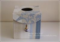 Lesson作品 ローラアシュレイ生地でお揃いのティッシュBOX♪ - ☆Blue Bird☆cartonnageからの贈り物