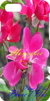 薔薇に蜜蜂が、、、 - 写真で楽しんでます! スマホ画像!