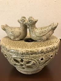古越磁鴛鴦薫香炉 - 中国古陶磁 陶枕斎