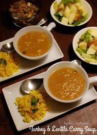 ターキーとレンズ豆のカレースープ。ハムエッグ(リメイク祭り その2) - Kyoko's Backyard ~アメリカで田舎暮らし~