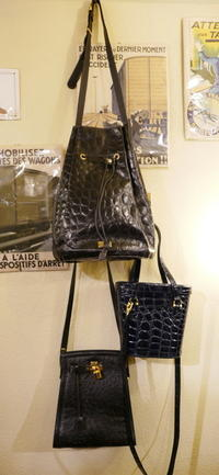 Embossed leather bags - carboots