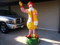Ronald McDonald statue 1970s - OIL SHOCK ZAKKA
