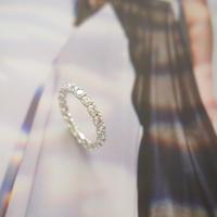 『 瞬きの贈り物 -Pt900+Diamond フルエタニティリング 』 - Zelkova.Kの気まぐれJewelry日記