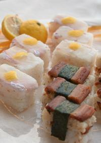 鯛と穴子の押し寿司 - ~遠く 遠く~ chiba