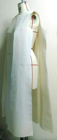 ワンピース(綿花柄)8(P) - Salon de Sanuu オートクチュール(婦人服お仕立て)