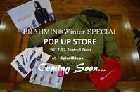 """C+ POP UP本日終了!次はBRAHMIN ❄ Winter SPECIAL POP UPへ ...11/30thu"" - SHOP ◆ The Spiralという館~カフェとインポート雑貨のある次世代型セレクトショップ~"