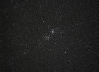 二重星団(NGC869+884)とNGC957 - 安倍奥の星空