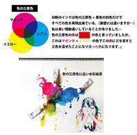 色の三原色、絵具の三原色 - 筆一本あれば人生は楽し! -イラストレーター原田伸治-